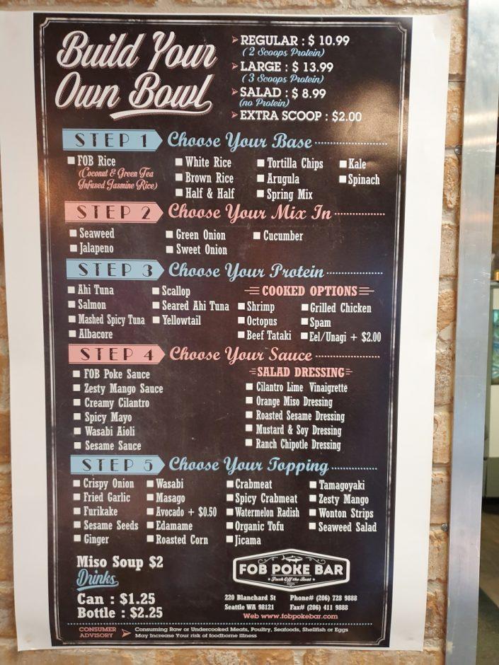 시애틀 맛집 FOB Poke Bar (5)