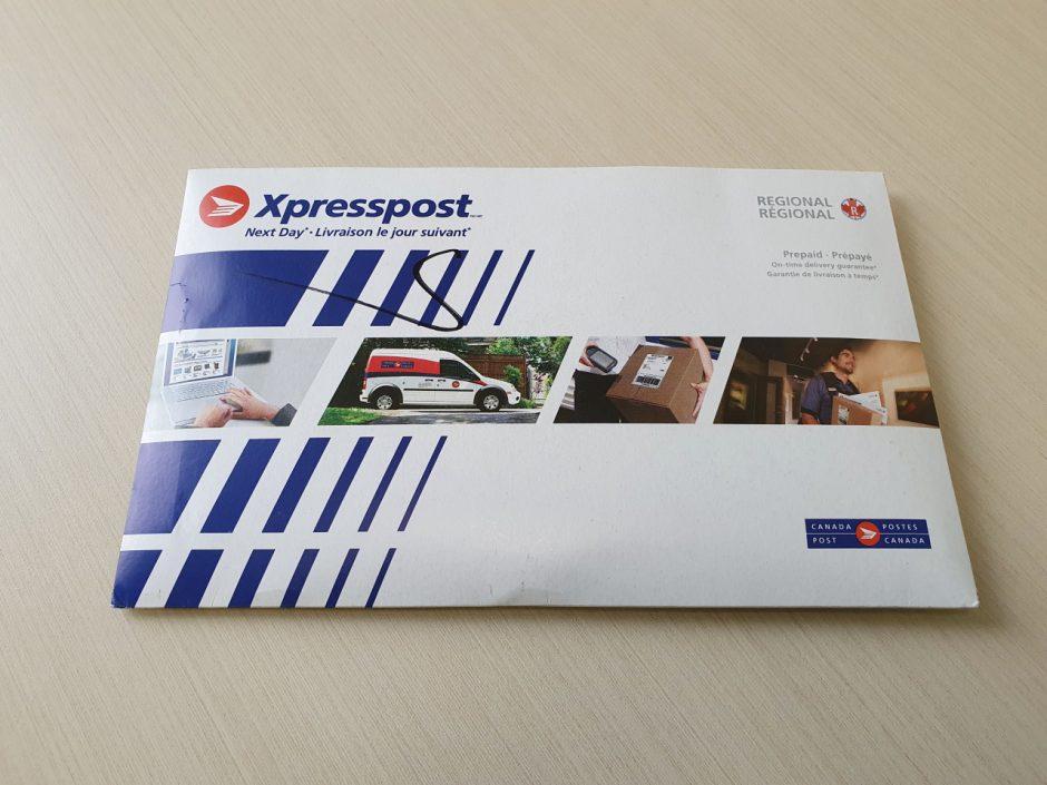 여권 재발급 신청할 때 사용한 우편봉투